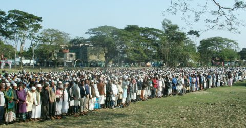জগন্নাথপুরে মেয়র আবদুল মনাফের জানাজায় শোকাহত জনতার ঢল