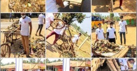 """টেকনাফে নয়াবাজার আদর্শ ঐক্য পরিষদের """"পরিচ্ছন্নতা অভিযান"""" সম্পন্ন"""