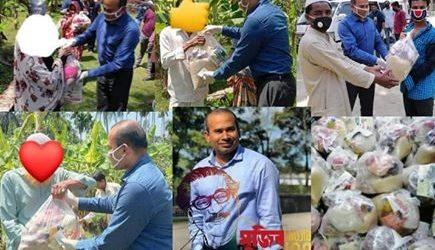 লক্ষ্মীপুরে অসহায়দের মাঝে নিত্যপ্রয়োজনীয় খাবার বিতরণ করেন গিয়াস উদ্দিন রুবেল ভাট